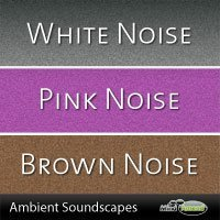 White, pink and brown noise mp3 package