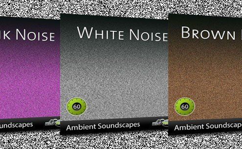 New white, pink and brown noise tracks