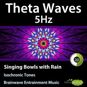 5Hz Theta Waves - Singing Bowls with Rain