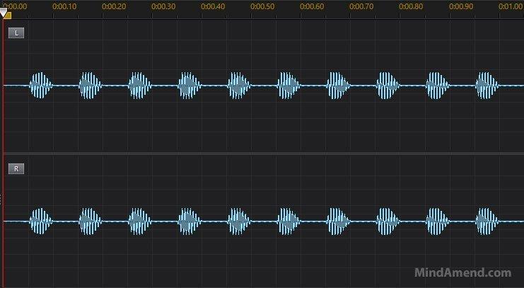 10Hz isochronic tone